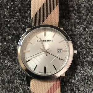 Burberry watch - classic plaid band